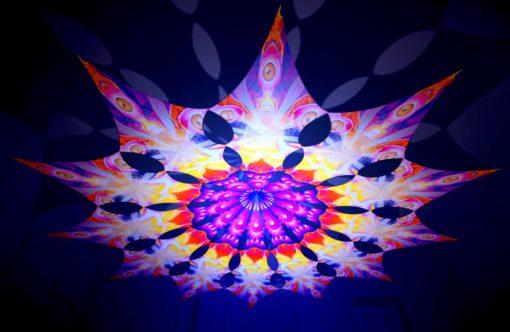 Frozen Corals - Buddha - Psychedelic UV-Reactive Canopy - 12 Petals Set