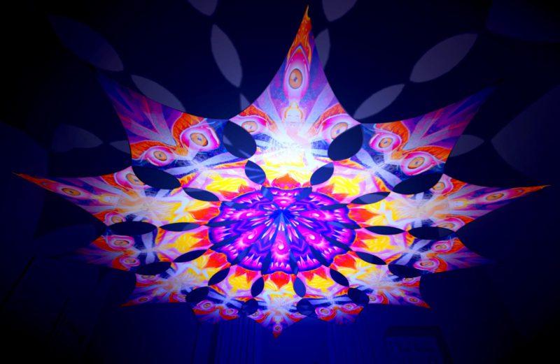 Frozen Corals - Buddha & Demon - Psychedelic UV-Reactive Canopy - 12 Petals Set