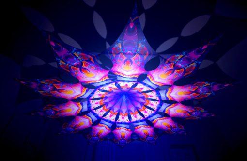 Frozen Corals - Corals - Psychedelic UV-Reactive Canopy - 12 Petals Set