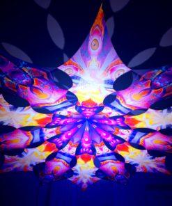 Frozen Corals - Buddha & Corals - Psychedelic UV-Reactive Canopy - 12 Petals Set