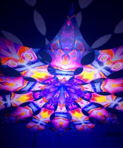 Frozen Corals - Demon & Corals - Psychedelic UV-Reactive Canopy - 12 Petals Set