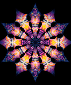 Frozen Corals - Corals&Demon - Design Top View - Psychedelic UV-Reactive Canopy - 12 Petals Set