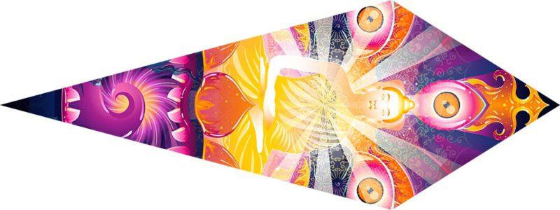 Frozen Corals - Buddha - Psychedelic UV-Reactive Canopy - Petal Design