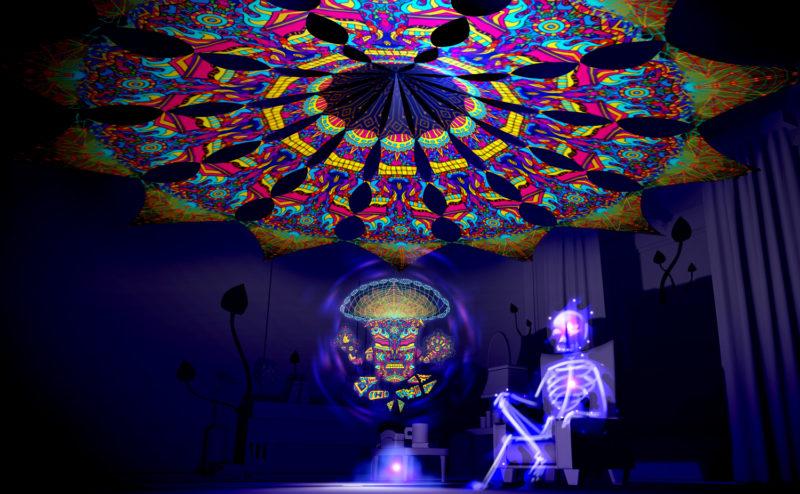 Magic Mushroom God - GeoShroom - Psychedelic UV-Reactive Canopy