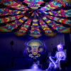 Magic Mushroom God - GeoShroom & Trippy Pillar - Psychedelic UV-Reactive Canopy