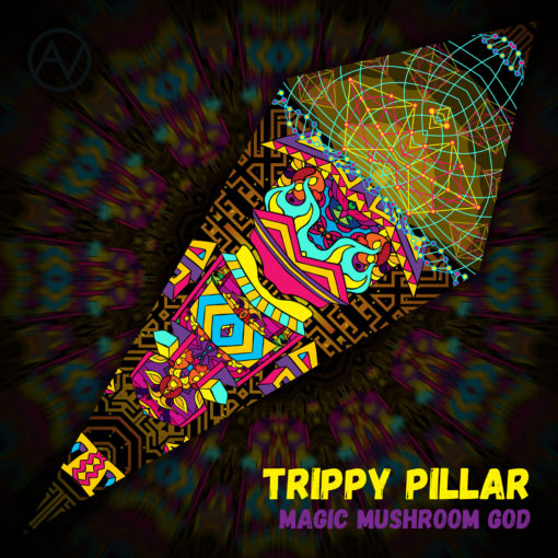 Magic Mushroom God - Ceiling Decoration - Petal Design - Trippy Pillar