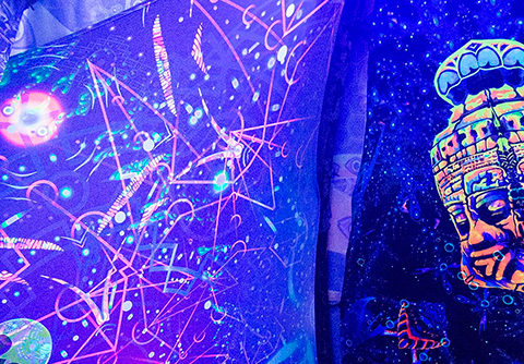 Andrei Verner's Psychedelic UV-Art at Pangea Gathering