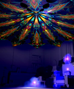 Leaf & Star - Reincarnation 2 Psychedelic UV-Reactive Canopy 12 Petals