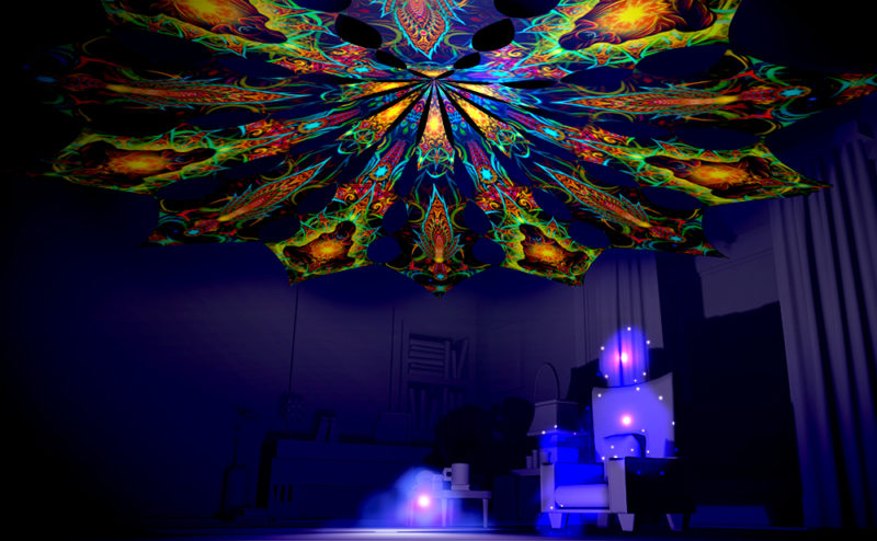 Adept & Leaf - Reincarnation 2 Psychedelic UV-Reactive Canopy 12 Petals