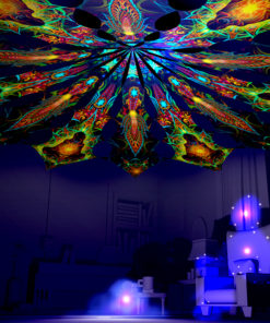 Adept & Star - Reincarnation 2 Psychedelic UV-Reactive Canopy 12 Petals
