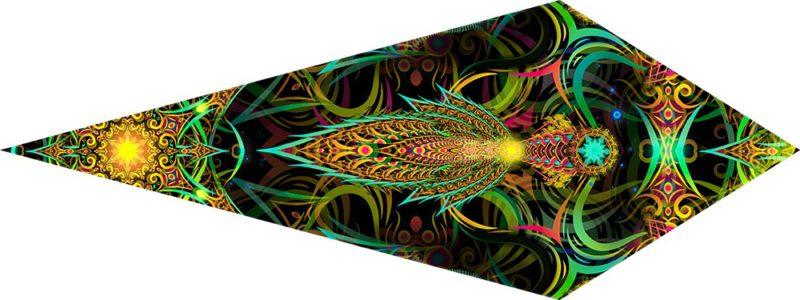 Leaf Design of Reincarnation 2 Psychedelic UV-Reactive Canopy Petal