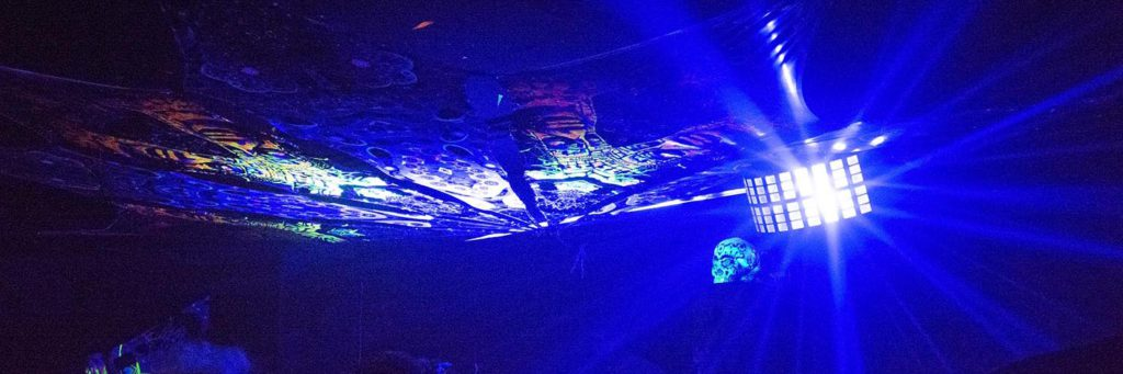 Andrei Verner's Psychedelic UV-Art at Purim Party by Fusion Culture in Duplex, Tel Aviv