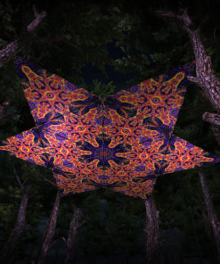 Abracadabra UV-Triangles - TR01 - 12 Pieces - UV-Reactive Psychedelic Party Decoration - 3D Preview
