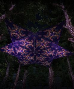 Abracadabra UV-Triangles - TR02 - 12 Pieces - UV-Reactive Psychedelic Party Decoration - 3D Preview