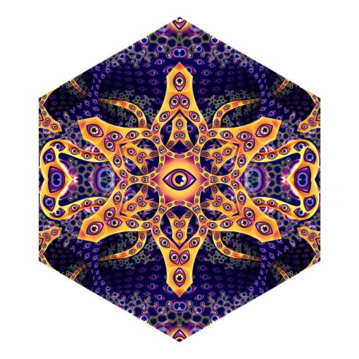 Abracadabra - Hexagon - Psychedelic UV-Reactive Canopy Part