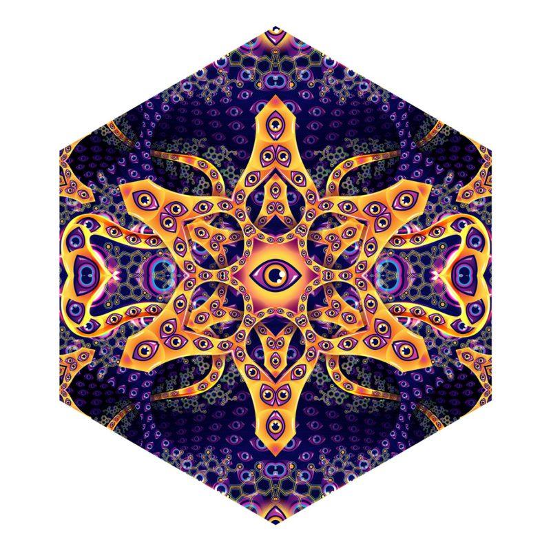 Abracadabra - Hexagon - Psychedelic UV-Reactive Canopy Part