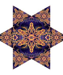Abracadabra - Hexagon and 6 Triangles Pack - Psychedelic UV-Reactive Canopy Set - Design