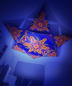 Abracadabra - Hexagon and 6 Triangles Pack - Psychedelic UV-Reactive Canopy Set - 3D preview