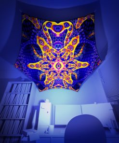 Abracadabra - Hexagon - Psychedelic UV-Reactive Canopy Part - 3D preview