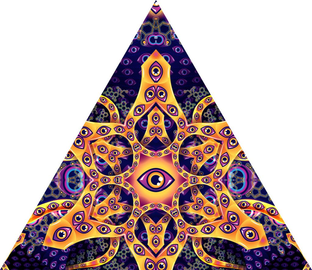 Abracadabra - Triangle - Psychedelic UV-Reactive Canopy Part