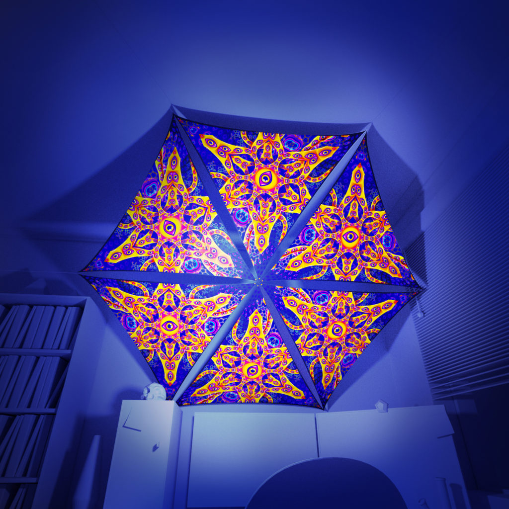 Abracadabra - 6 Triangles Pack - Psychedelic UV-Reactive Canopy Part - 3D preview