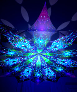 Enlightenment - Geometry Galaxy & Blue Adept - Psychedelic UV-Reactive Canopy