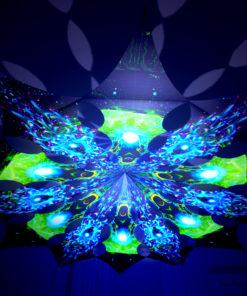 Enlightenment - Green Adept & Blue Adept - Psychedelic UV-Reactive Canopy