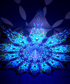 Enlightenment - Blue Adept - Psychedelic UV-Reactive Canopy