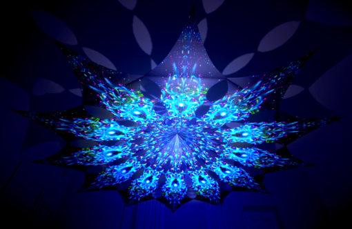Enlightenment - Blue Adept - Psychedelic UV-Reactive Canopy