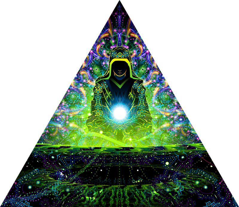 Enlightenment - Triangle - Psychedelic UV-Reactive Canopy Part