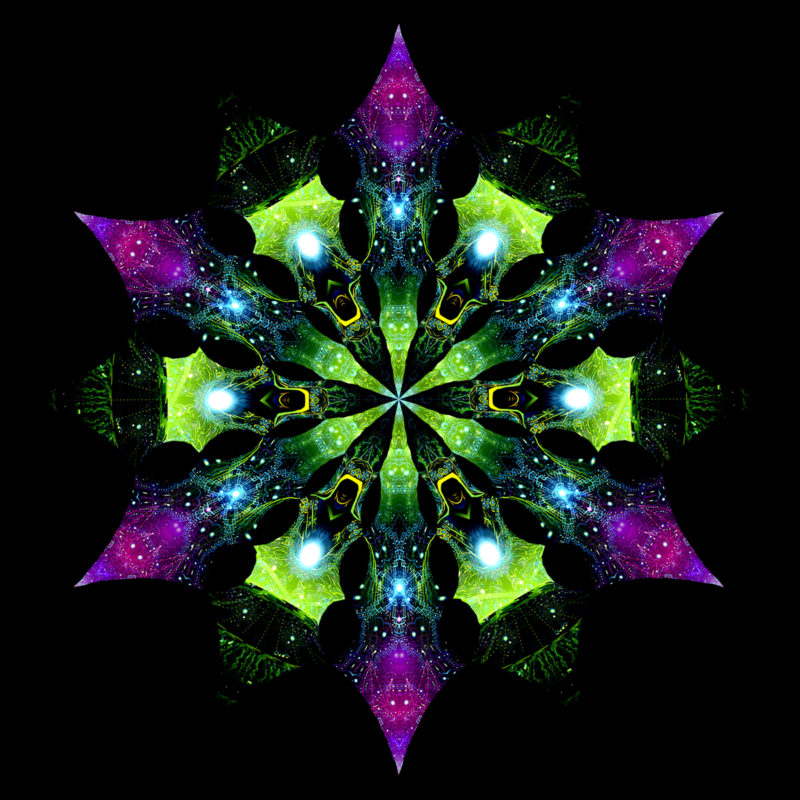 Enlightenment - Geometry Galaxy & Green Adept - Psychedelic UV-Reactive Canopy