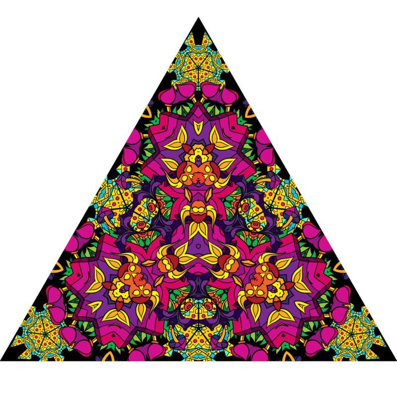 Mushroom God - Triangle - Stretchable UV-Print on Lycra Design