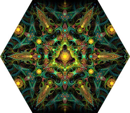 Reincarnation 2 - Hexagon - Stretchable UV-Print on Lycra Design
