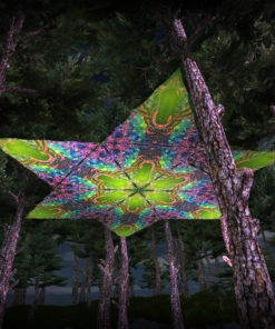 Alien Enlightenment UV-Triangles - TR01 - 12 Pieces - UV-Reactive Psychedelic Party Decoration - 3D Preview