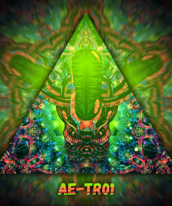 Alien Enlightenment - Triangle Design - TR01 - UV-Print on Stretchable Lycra