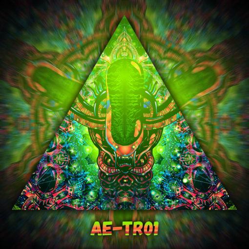 Alien Enlightenment - Triangle Design - TR01 - UV-Print on Stretchable Lycra