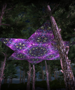 Alien Enlightenment UV-Triangles - TR02 - 12 Pieces - UV-Reactive Psychedelic Party Decoration - 3D Preview