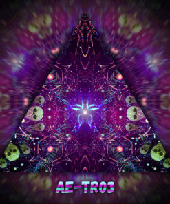 Alien Enlightenment - Triangle Design - TR03- UV-Print on Stretchable Lycra