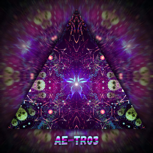 Alien Enlightenment - Triangle Design - TR03- UV-Print on Stretchable Lycra