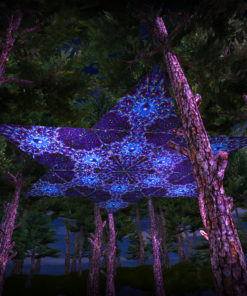Enlightenment UV-Triangles - TR02 - 12 Pieces - UV-Reactive Psychedelic Party Decoration - 3D Preview