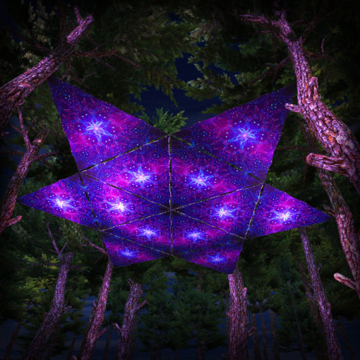 Enlightenment UV-Triangles - TR03 - 12 Pieces - UV-Reactive Psychedelic Party Decoration - 3D Preview