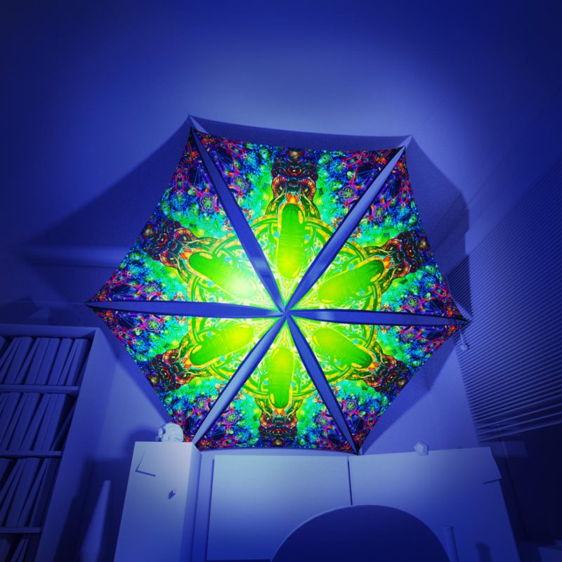 Alien Enlightenment - 6 Triangles Pack - Psychedelic UV-Reactive Canopy Part - 3D preview
