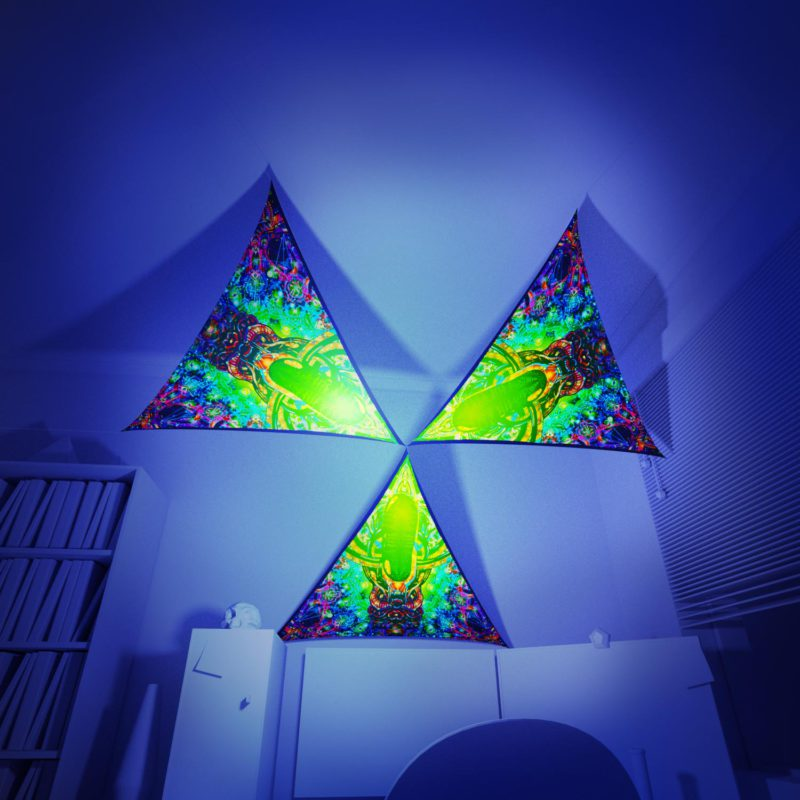 Alien Enlightenment - 3 Triangles Pack - Psychedelic UV-Reactive Canopy Part - 3D preview