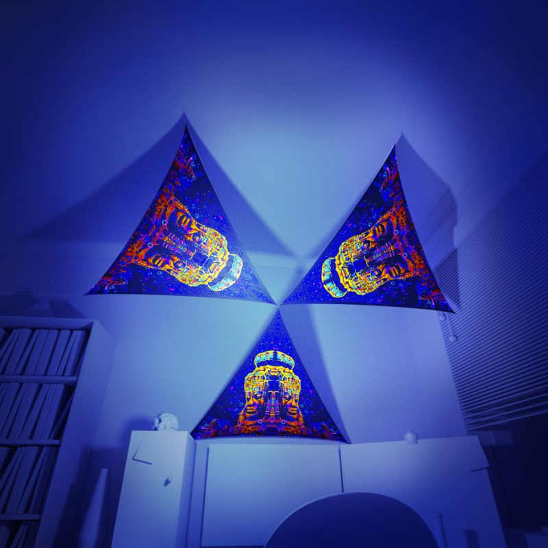 Epic Underwater Kingdom - 3 Triangles Pack - Psychedelic UV-Reactive Canopy Part - 3D preview