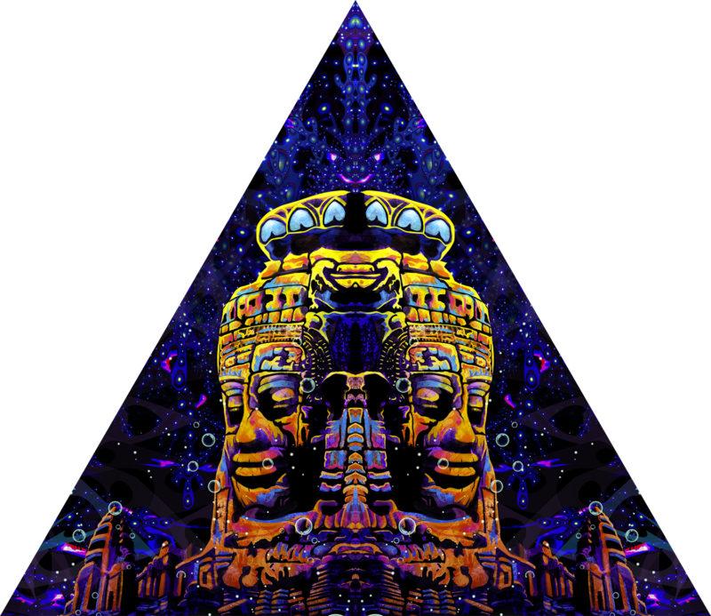 Epic Underwater Kingdom - Triangle - Stretchable UV-Print on Lycra Design
