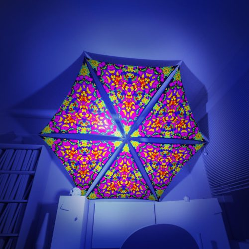 Mushroom God - 6 Triangles Pack - Psychedelic UV-Reactive Canopy Part - 3D preview
