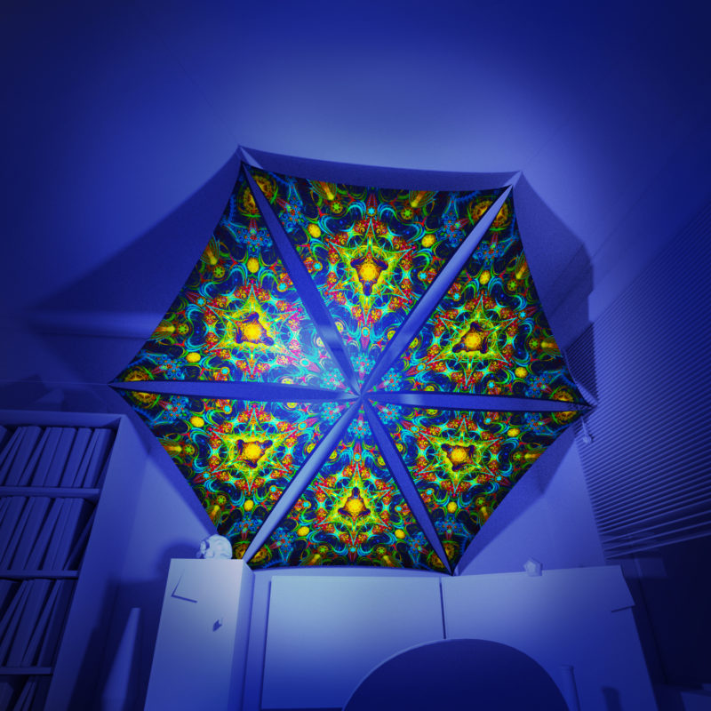 Reincarnation 2 - 6 Triangles Pack - Psychedelic UV-Reactive Canopy Part - 3D preview