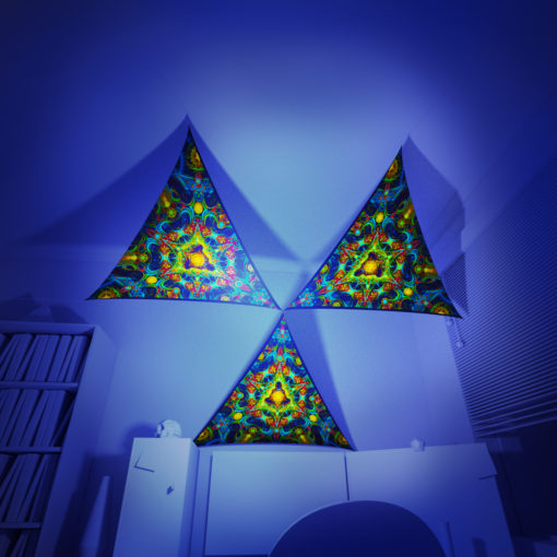Reincarnation 2 - 3 Triangles Pack - Psychedelic UV-Reactive Canopy Part - 3D preview