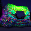 Alien Enlightenment - DJ-booth Design - UV-Reactive Print on Lycra