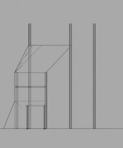 DJ-booth blueprint - side view
